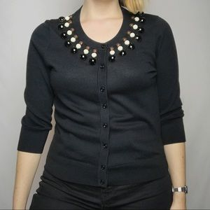 Kate Spade Black Rio Embellished Cardigan